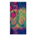 Background Colorful Bugs Shower Curtain 36  x 72  (Stall)  33.26 x66.24 Curtain