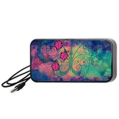 Background Colorful Bugs Portable Speaker (black) by BangZart