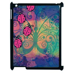 Background Colorful Bugs Apple Ipad 2 Case (black)