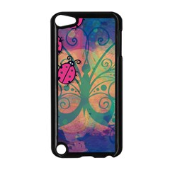 Background Colorful Bugs Apple Ipod Touch 5 Case (black) by BangZart