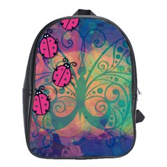 Background Colorful Bugs School Bags (xl)