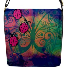 Background Colorful Bugs Flap Messenger Bag (s)