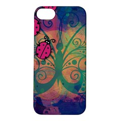 Background Colorful Bugs Apple Iphone 5s/ Se Hardshell Case