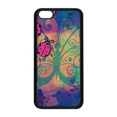 Background Colorful Bugs Apple Iphone 5c Seamless Case (black) by BangZart