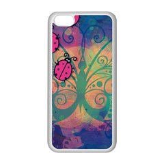 Background Colorful Bugs Apple Iphone 5c Seamless Case (white) by BangZart