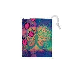 Background Colorful Bugs Drawstring Pouches (xs)  by BangZart
