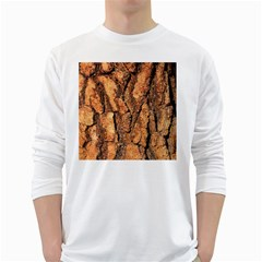 Bark Texture Wood Large Rough Red Wood Outside California White Long Sleeve T Shirts by BangZart