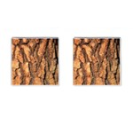 Bark Texture Wood Large Rough Red Wood Outside California Cufflinks (Square) Front