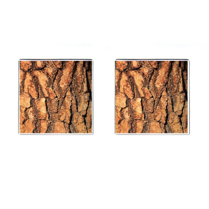 Bark Texture Wood Large Rough Red Wood Outside California Cufflinks (Square)