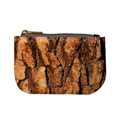 Bark Texture Wood Large Rough Red Wood Outside California Mini Coin Purses by BangZart