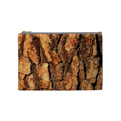 Bark Texture Wood Large Rough Red Wood Outside California Cosmetic Bag (medium)  by BangZart