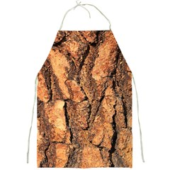 Bark Texture Wood Large Rough Red Wood Outside California Full Print Aprons by BangZart