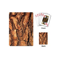 Bark Texture Wood Large Rough Red Wood Outside California Playing Cards (mini)  by BangZart