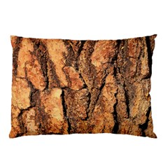 Bark Texture Wood Large Rough Red Wood Outside California Pillow Case (two Sides)