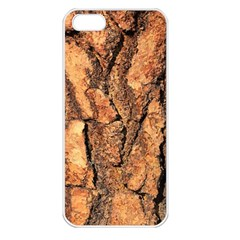 Bark Texture Wood Large Rough Red Wood Outside California Apple Iphone 5 Seamless Case (white)
