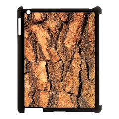Bark Texture Wood Large Rough Red Wood Outside California Apple Ipad 3/4 Case (black) by BangZart