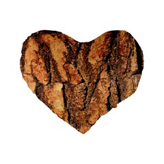 Bark Texture Wood Large Rough Red Wood Outside California Standard 16  Premium Heart Shape Cushions by BangZart