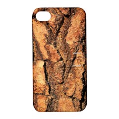 Bark Texture Wood Large Rough Red Wood Outside California Apple Iphone 4/4s Hardshell Case With Stand