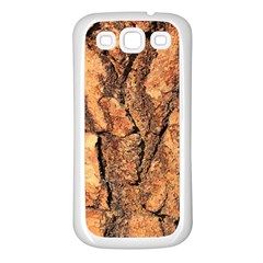 Bark Texture Wood Large Rough Red Wood Outside California Samsung Galaxy S3 Back Case (white) by BangZart