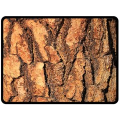 Bark Texture Wood Large Rough Red Wood Outside California Double Sided Fleece Blanket (large)  by BangZart