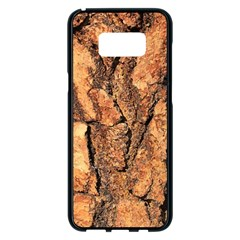 Bark Texture Wood Large Rough Red Wood Outside California Samsung Galaxy S8 Plus Black Seamless Case by BangZart