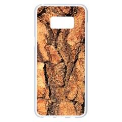 Bark Texture Wood Large Rough Red Wood Outside California Samsung Galaxy S8 Plus White Seamless Case
