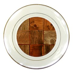 Barnwood Unfinished Porcelain Plates