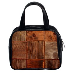 Barnwood Unfinished Classic Handbags (2 Sides) by BangZart
