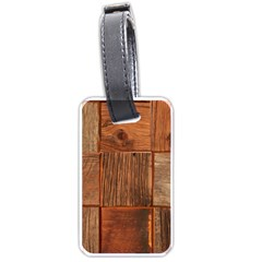 Barnwood Unfinished Luggage Tags (one Side)