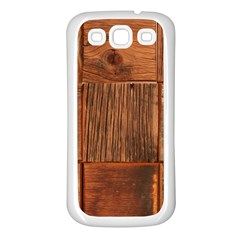 Barnwood Unfinished Samsung Galaxy S3 Back Case (white) by BangZart