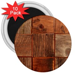 Barnwood Unfinished 3  Magnets (10 Pack)