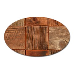 Barnwood Unfinished Oval Magnet by BangZart