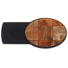 Barnwood Unfinished Usb Flash Drive Oval (2 Gb) by BangZart