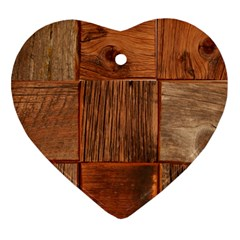 Barnwood Unfinished Heart Ornament (two Sides) by BangZart