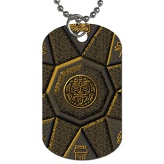 Aztec Runes Dog Tag (two Sides) by BangZart