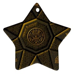 Aztec Runes Star Ornament (two Sides)