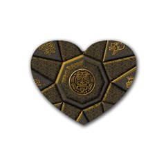 Aztec Runes Heart Coaster (4 Pack)
