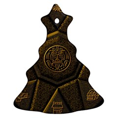 Aztec Runes Christmas Tree Ornament (two Sides) by BangZart