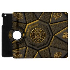 Aztec Runes Apple Ipad Mini Flip 360 Case by BangZart