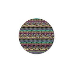 Aztec Pattern Cool Colors Golf Ball Marker (10 Pack) by BangZart
