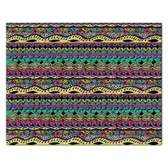 Aztec Pattern Cool Colors Rectangular Jigsaw Puzzl by BangZart