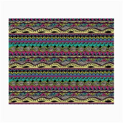 Aztec Pattern Cool Colors Small Glasses Cloth