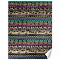 Aztec Pattern Cool Colors Canvas 36  X 48   by BangZart