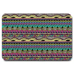 Aztec Pattern Cool Colors Large Doormat  by BangZart