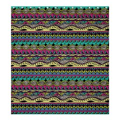 Aztec Pattern Cool Colors Shower Curtain 66  X 72  (large)  by BangZart