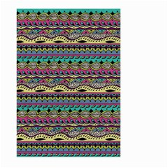 Aztec Pattern Cool Colors Large Garden Flag (two Sides) by BangZart