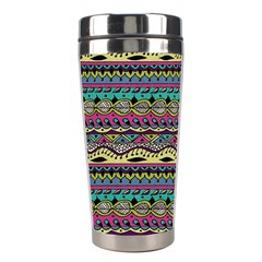 Aztec Pattern Cool Colors Stainless Steel Travel Tumblers by BangZart