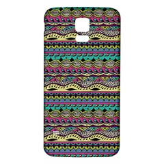 Aztec Pattern Cool Colors Samsung Galaxy S5 Back Case (white) by BangZart