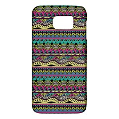 Aztec Pattern Cool Colors Galaxy S6