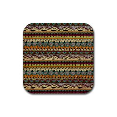 Aztec Pattern Ethnic Rubber Coaster (square)  by BangZart